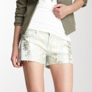 NWT 7 FOR ALL MANKIND Cutoff Metallic Shorts 26